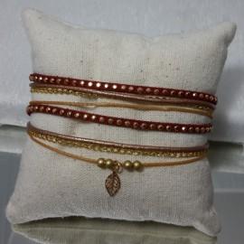 Bracelet Malaga bordeau