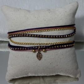 Bracelet Malaga bleu et rose