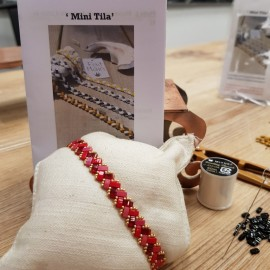 Kit Bracelet Mini Tila rouge