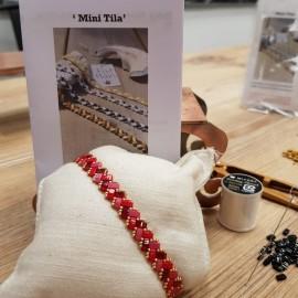 Kit Bracelet Mini Tila rouge