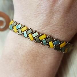 Bracelet Mini Tila moutarde