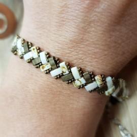 Bracelet Mini Tila taupe