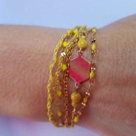 Kit Bracelet Bohème jaune