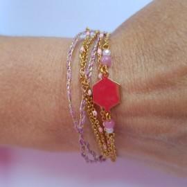 Kit Bracelet Bohème rose