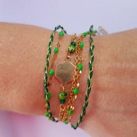 Kit Bracelet Bohème vert