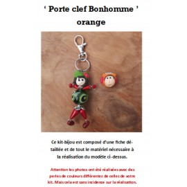 Kit Porte Clef Bonhomme orange