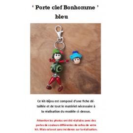 Kit Porte Clef Bonhomme bleu