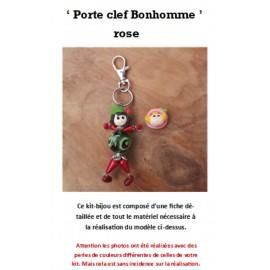 Kit Porte Clef Bonhomme rose