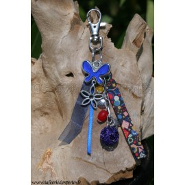 Grigri papillon bleu