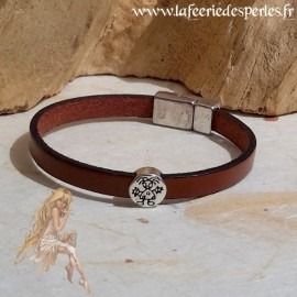 Bracelet cuir chocolat