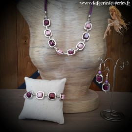 Parure Vladia violette